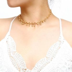 NEW trendy bead drop choker necklace